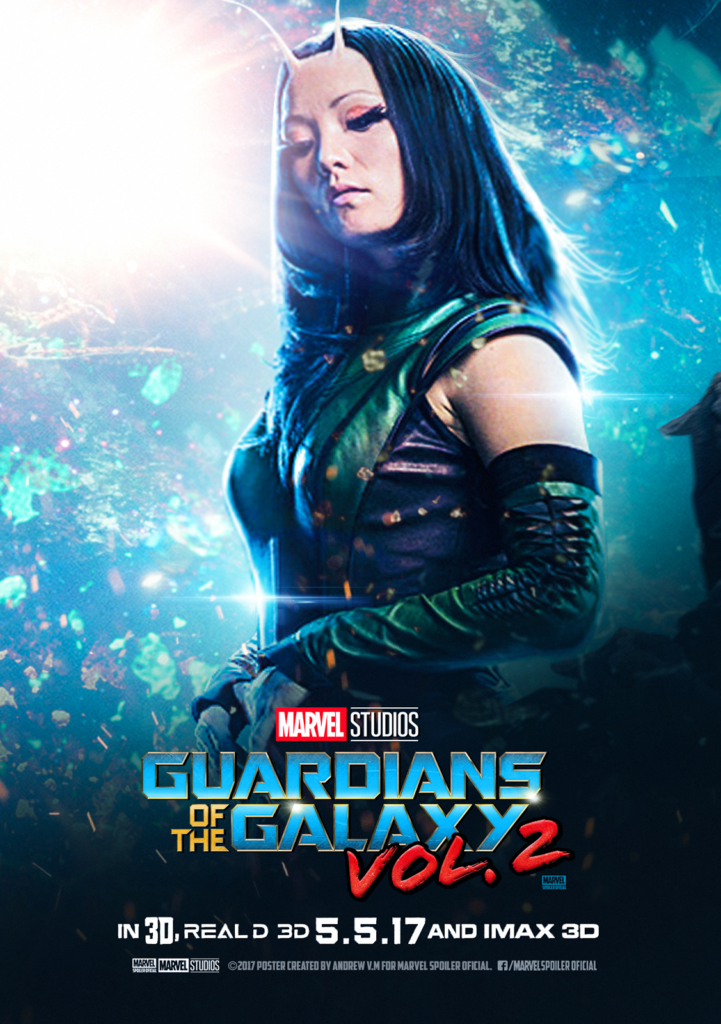 Póster de Guardians of the Galaxy Vol. 2, centrado en Mantis.