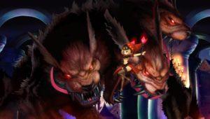 La bestia de seis ojos de Darkova contra Velvet.