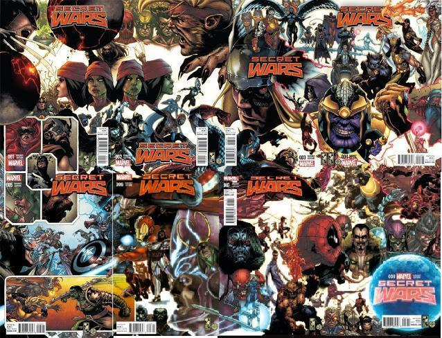Portadas alternativas de Secret Wars unidas. Por Simone Bianchi.